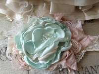Pistachio Cream Girls Fancy Headband
