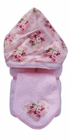Rebecca Hooded Towel on Pink