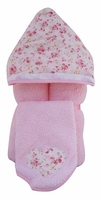 Roaming Rose Hooded Towel on Pink