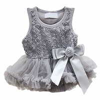 Sweet Heart Rose Silver Rosette Holiday Dress