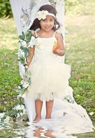 Sweet Heart Rose Cream Blossom Tutu Dress