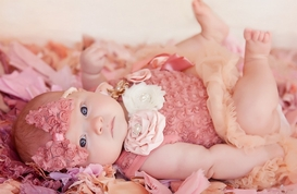Sweet Heart Rose Dusty Rose Bodysuit Tutu and Headband