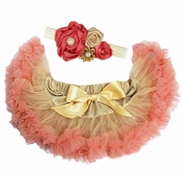 Sweet Heart Rose Gold and Peach Tutu Set