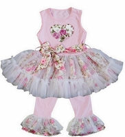 Sweet Heart Rose Swing Set - Boutique Girls Clothing