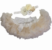 Sweetheart Rose Cream Infant Tutu Set