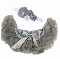 Sweetheart Rose Grey  Infant Tutu Set -Newborn Baby Gifts