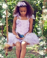 Sweetheart Rose Lavender Blossom Tutu Dress & Headband