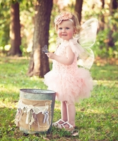 Sweetheart Rose Peach Blossom Tutu Dress and Headband