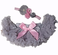 Sweetheart Rose Silver and Pink Infant Tutu Set