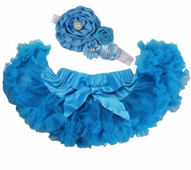 Sweetheart Rose Turquoise Blue Tutu Set