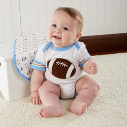 Tiny Touchdown  3 Piece Football-Themed Layette Set