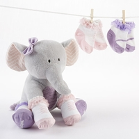 Tootsie in Footsies� Plush Elephant and Socks for Baby