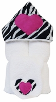 Zebra Hooded Towel on White