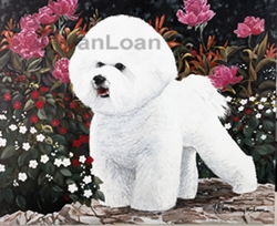 "Bichon Frise ""Bichon With Flowers"" Limited Edition Print"