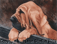 """Bloodhound """"Puppy on the Fence"""" Limited Edition Print"""