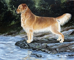 "Golden Retriever ""By The Lake"""