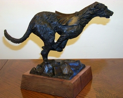 "Irish Wolfhound ""Bronze by Dr. Robert B. Turner"""