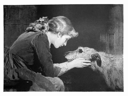 "Irish Wolfhound Deerhound ""Vintage Engraving Repro"""