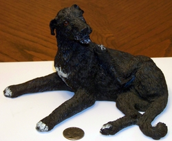 Irish Wolfhound Figurine Resin Cast (SOLD)