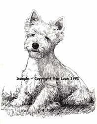 "West Highland White Terrier ""Puppy Sitting"""