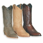 Abilene Ladies Distressed Cowhide Leather Cowgirl Boots - 3 Colors