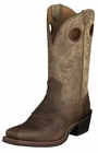 Ariat Mens Heritage Roughstock Earth Brown Bomber Leather Boots 10002230