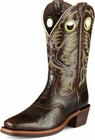 Ariat Mens Heritage Roughstock Thunder Brown Leather Cowboy Boots 10007850
