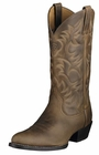 Ariat Mens Heritage Western R-Toe Distressed Brown Leather Boots 10002204