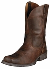 Ariat Mens Rambler Moccasin Leather Cowboy Boots 10006715