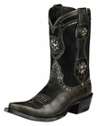 "Ariat Womens Presidio Collection Ash Black 9"" Shaft Leather Boots 10008757"