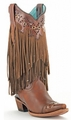 Ladies Corral Fringe Sierra Tan Boots C1185