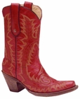 Corral Boots Ladies Red Stitched Boots G1900