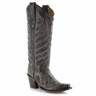 Corral Ladies Black Crystal Inlay Cowgirl Boots C2877