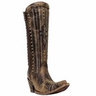 Corral Ladies Brown Crystal Cross and Stud Boot C2925