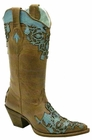Corral Ladies Sand/Turquoise Lizard Cut Out C2145