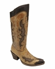Corral Women's Antique Saddle Chocolate Studded Inlay Boot C2888