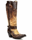 Corral Women's Cognac Harness Studded Boot G1229
