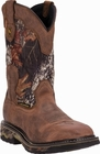 "Dan Post Men's ""Hunter ST"" Steel-Toe Mossy Oak Saddle Tan Leather Work Boots DP69488"