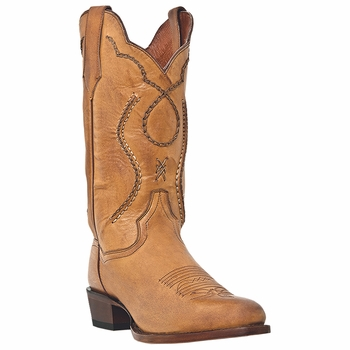 """Dan Post Mens """"Albany"""" Western Boots Palomino Saddle Brand Leather DP26690"""