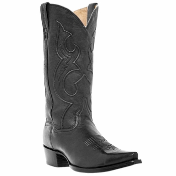 "Dan Post Mens ""Bexar"" Western Boots Black Saddle Brand Leather DP2295"