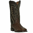 "Dan Post Mens ""Chandler"" COWBOY CERTIFIED Boots Tobacco Full Quill Waxy Ostrich Foot DP2981"