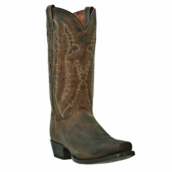 """Dan Post Mens """"Earp"""" Western Boots Bay Apache Distressed Leather DP2163"""