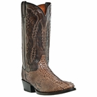 "Dan Post Mens ""Omaha"" Exotic Western Boots Bay Apache Genuine Python Foot DP3027"