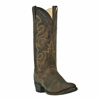 """Dan Post Mens """"Renegade"""" Western Boots All Over Bay Apache Distressed Leather DP2159"""