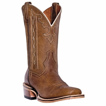 "Dan Post Mens ""Spritzer"" COWBOY CERTIFIED Boots Tan Crazy Horse DP4128"