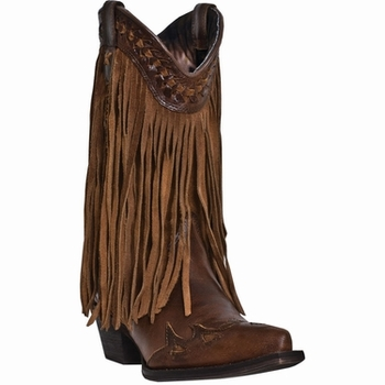 """Dingo Women's """"Heart Throb"""" Russet Leather Boots DI7445"""
