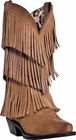 "Dingo Women's ""Tres Fringe"" Tan Burnished Suede DI7442"