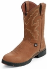 Justin Boots Mens George Strait Collection 3.1 Pull On Series Coffee Westerner Waterproof Boots 9017