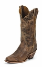 Justin Ladies Bent Rail Tan Road Leather Cowgirl Boots BRL122