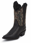 Justin Ladies Classic Western Royal Black Cowhide Boots L4923